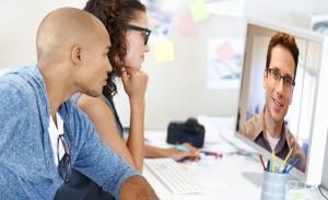 Videokonferenz am Arbeitsplatz und mobil