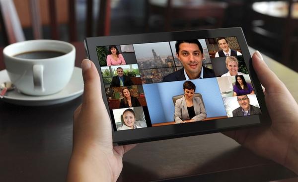 Mobile Video Communication Desktop und Applikation Sharing